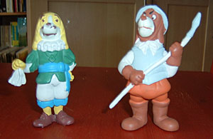 PVC figures: King Louis and a guard